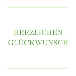 Grußkarten mit HERZLICHEN GLÜCKWUNSCH